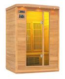 Sauna infravermelha de 3 povos com cedro e reprodutor de CDs