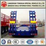 2 Fuwa Axles Tires Exposed Lowbed Semi Trailer with Ramp