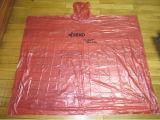 Imperméable imperméable à l'eau rouge/poncho de PE/Polyethylene