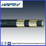 Tuyau hydraulique tressé à deux fils à haute pression de SAE100 R16