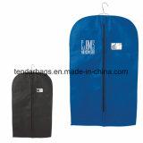 Saco de vestuário Home do terno da tela do armazenamento com o bolso de cartão conhecido