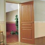 Porta de madeira moderna dianteira luxuosa, projetos da porta da madeira contínua do Teak (SC-W135)