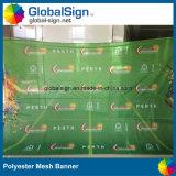 Bandeiras do sinal do evento que anunciam o poliéster impresso Sublimation da bandeira do engranzamento
