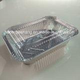 Envases del papel de aluminio con la tapa de papel