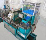 Tubo de la irrigación que hace la máquina con el emisor redondo del interior