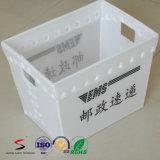 Caixa plástica da folha de Twinwall da caixa plástica ondulada da modificação