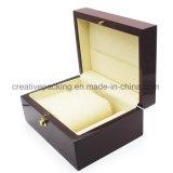 Cadre de montre en bois de luxe laqué lustré élevé