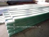 Il tetto ondulato di colore della vetroresina del comitato di FRP/di vetro di fibra riveste W172073 di pannelli