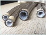 SAE100r14 Gevlechte versterkte het Roestvrij staal Teflon Hydraulische Flexibele Slang