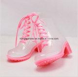 Цветастый High-Heeled PVC ботинок