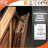 Indicador interno contínuo folheado de alumínio do Casement do indicador de abertura da madeira de pinho, indicador de madeira da inclinação da cor do registro interior