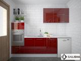 Armadio da cucina di legno dell'hotel dell'isola domestica moderna UV rossa della mobilia