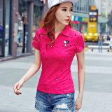 Рубашка пола изготовленный на заказ женщин вскользь типа лета высокого качества Гуанчжоу