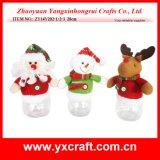 Diseño propia botella de Navidad Decoración (ZY14Y30-1-2) Navidad Producto navidad fábrica