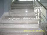 灰色の木製の穀物の大理石の石Staircareのまっすぐなステアケース