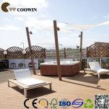 Placa de plataforma de piscina de madeira ao ar livre
