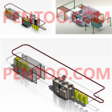 Gas Tank를 위한 경쟁적인 Price Custmize Powder Coating Line
