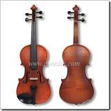 Érable ondé violon violon avec étui, Moyen année Violin Outfit (VM110H)