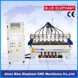 Ele-1730多目的8つの軸線の木工業CNC機械、8つのスピンドル中国からの木製CNCのルーター