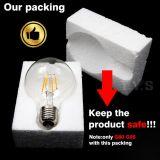 luz del filamento de 5W 4W B22 G80 LED