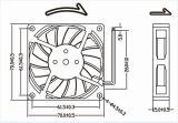 aboutir 2wire en plastique du ventilateur de refroidissement 70mm 70X70X15mm de C.C de 12V 24V