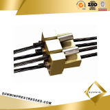 Плоское Multiholes Coupler Anchor для 15.24 PC Strand