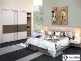 حديثة [فرنش] بينيّة غرفة نوم فندق أثاث لازم خشبيّة مقصورة خزانة ثوب