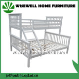 Festes Holz-volles unteres Doppelspitzenkoje-Bett