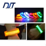 Bracelete de pulso de cor Flash LED Night Run Parkour Hip-Hop