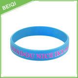 Wristband su ordinazione del silicone di Debossed Colorfilled del regalo promozionale