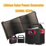 150wh Gerador de energia solar portátil Solar Power Suply com Ce / FCC / RoHS