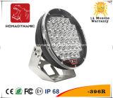 """Automobile LED indicatore luminoso fuori strada rotondo dell'indicatore luminoso 4WD del lavoro nero/rosso-chiaro 9 """" 96W del CREE LED e LED che determina indicatore luminoso automatico"""