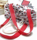 Nuevo estilo de la moda de algodón reutilizable bolsa con cordón
