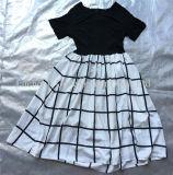 2016 il più nuovo di vestiti utilizzati della signora coreana Ashion Chiffon Dress di stile per il servizio africano (FCD-002)
