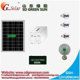 sistema eléctrico solar solo del soporte 100W con salida de la CA