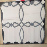 Telhas Waterjet da cor branca, mosaico de mármore da parede para a venda