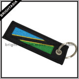 Form Embroideried Key Chain für Promotion Gift mit Land Flags (BYH-10870)