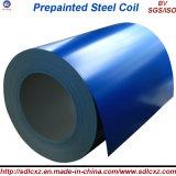 (0.14mm-1.0mm) PPGIのカラーによって塗られた鋼鉄コイルはまたは鋼鉄コイルをPrepainted