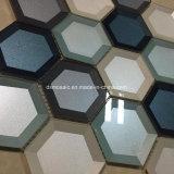 Azulejo de mosaico de cristal afilado colorido del hexágono de Newesf