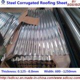 La plaque en acier du matériau de construction PPGI PPGL ridée galvanisent la feuille de toiture