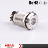 Point-Illumination Momentary Latching Vandalproof Push Button Switch de RoHS de la CE de Hban (19mm)