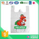 Precio de fábrica camiseta de plástico Bolsa de compras para el supermercado