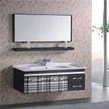 Vanidad barata del cuarto de baño de la pared del acero inoxidable con el estante