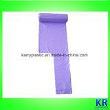 Устранимые мешки HDPE полиэтиленовых пакетов хлама с ручкой