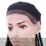 Handmade Kinky волосы синтетики Dreadlocks париков фронта шнурка оплетки париков закрутки