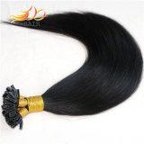 カラー1b人間の毛髪の拡張ブラジルのRemyの毛をUひっくり返しなさい