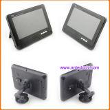 2 câmeras sem fio de opinião traseira do carro com monitor tela do LCD de 7 polegadas para a reserva do carro