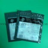 Sac d'emballage en PVC transparent avec fermeture à glissière et imprimé