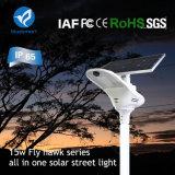 Lâmpada de rua solar all-in one com luz LED Bridgelux