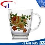 caneca de vidro da alta qualidade 360ml com flor de Decaled (CHM8077)